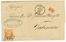 France cover 1873 Cette to Valencia (SP)