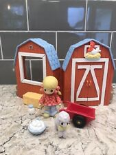 2002 * Precious Moments * Country Lane Collection Toy Barn Playalong Playset Set