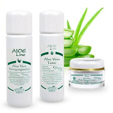 Aloe Vera Set: Reinigungsmilch 200ml + Tonic 200ml + Anti Aging Creme 50ml