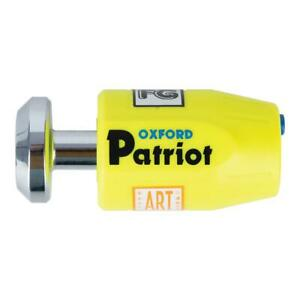 Oxford OF41 Patriot Ultra Strong Motorcycle Bike Security Disk Lock Extended Pin
