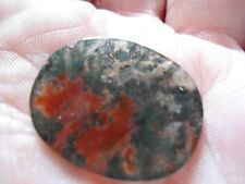 GENUINE VICTORIAN  MOSS AGATE  OVAL SHAPED CABOCHON STONE NO X9