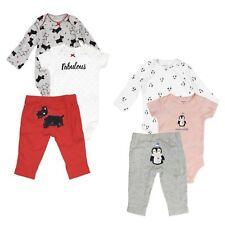 Carter's 3 Piece Set for Baby Girls Puppies, Penguin- One-Piece Bodysuits, Pants