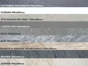 Porcelain Paving PREMIUM Stone Wood Rectified Vitrified 20mm in 16 COLOURS 1m2