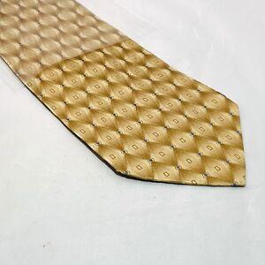 Arrow Gold w/ Geometric Abstract Pattern Silk Men's Necktie Sleeved D2