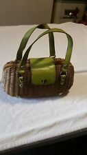 Monsac Vintage Woven Basket Handbag