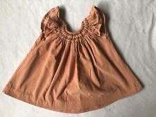 Isabel Garreton Orange Baby Boutique Dress Hand Smocked Embroidered Sz 12 Month
