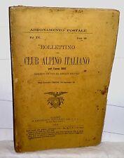 Bollettino CLUB ALPINO ITALIANO per l'anno 1882  Torino 1883