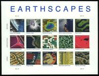 Earthscapes Sheet of Fifteen Forever Stamps Scott 4710