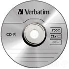 Verbatim 700MB CD-R Blank Discs 52x CD Extra Protection 80 min -10 Pack Sleeved