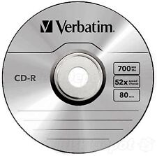 Verbatim 700MB CD-R Blank Discs 52x CD Extra Protection 80 min -2 Pack Sleeved