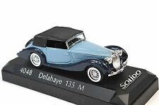 DELAHAYE 135M BLUE SOLIDO 4048 1:43 NEW MODEL CASE BACK CRACKED