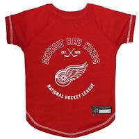Detroit Red Wings Officially Licensed NHL Dog Pet Tee Shirt, Red Sizes XS-L