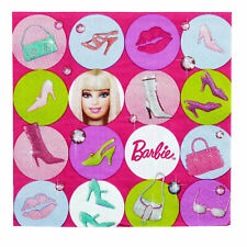 16 Pack Pink Girl BARBIE ALL DOLL'D UP Birthday Luncheon Party Paper Napkin 2ply
