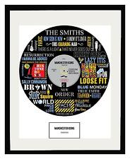 MANCHESTER ICONS - MEMORABILIA - Framed Art POSTER - Ltd Edition - An Ideal Gift