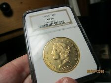 RARE CC MINTED GOLD LIBERTY HEAD DOUBLE EAGLE 1883-CC  AU-55  NGC  NICE LOOKING