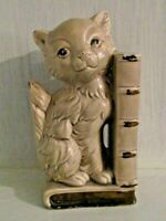 Vintage Cat Kitten Bookend Pencil Holder Japan Kitsch