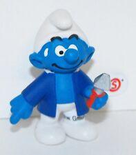 20768 Caretaker Smurf Figurine from 2015 Office Set Plastic Miniature Figure
