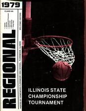 High School Basketball Program Illinois 1979 Tournament Boys AA