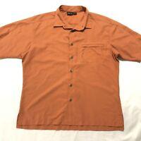 Mountain Hardwear Mens Large L Nylon/Polyester Shirt Button Down Short Sleeve
