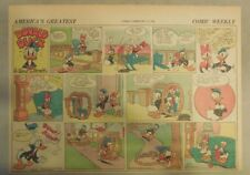 Donald Duck Sunday Page by Walt Disney from 2/22/1942 Half Page Size