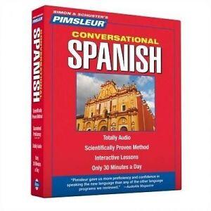 Superb Pimsleur Spanish Castilian  Course - Level 1 Lessons 1 to 16 (8 CDs)