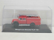 Magirus-Deutz Mercur TLF 16 Feuerwehr, OVP + Vitrine, Editions Atlas, 1:72
