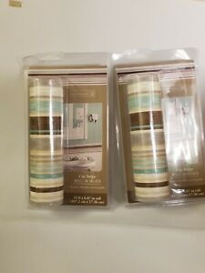 Home Trends Lot of 2 City Stripe Wall Border 15 Ft Each