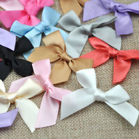 30pcs Mini Satin Ribbon Flowers Bows Gift DIY Craft Wedding Decoration E30