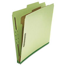 UNIVERSAL Pressboard Classification Folder Letter Four-Section Green 10/Box