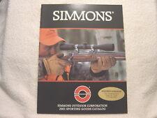 SIMMONS SCOPE OPTICS 2001 gun shooting catalog