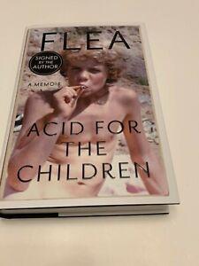SIGNED FLEA - ACID FOR THE CHILDREN HARDBACK BOOK. RED HOT CHILLI PEPPERS