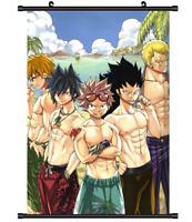 4406 Fairy Tail Gray Leon manga anime Home Decor Poster Wall Scroll A