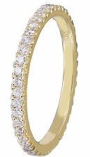 14k Yellow Gold Round Cut Diamond Band Anniversary Eternity Style Prong 0.60ctw