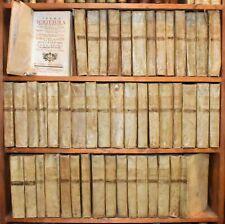 BIBBIA SACRA SCRITTURA 1786 Latino Volgare Sacy 48 voll Antico Nuovo Testamento