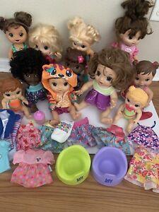 Baby Alive Doll Huge Lot Dolls Potty Bottle Clothing