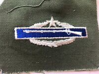 Vintage Color CIB Combat Infantry Badge 2nd Award Pocket Shirt Patch NOS
