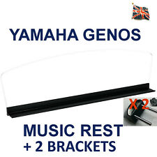 Yamaha Genos Music Rest / Music Stand + 2 Brackets Brand New