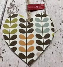 */ORLA KIELY Multi Stem  Hanging Heart 8cm Gift Home Decor Keepsake Tag