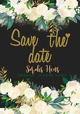 SAVE THE DATE Invitation Wedding Engagement Birthday Bridal Shower Invite