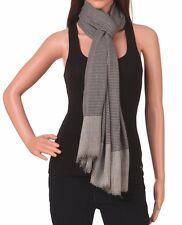 Stylish & Classy warm Kashmiri fine wool Scarf Wrap check plaid black & white