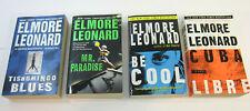 4 Elmore Leonard Crime Mystery Paperback Books Be Cool Mr Paradise  Fiction