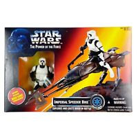 Kenner Star Wars Imperial Speeder Bike POTF Biker Scout Stormtrooper 1995 NEW