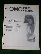 1985 OMC Johnson Evinrude Outboard Parts Catalog Manual 120 140 HP E120TLCOS
