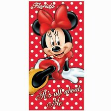 Disney Minnie Mouse It's All About Me Florida Beach Towel NEW