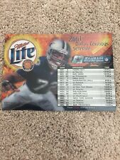 dallas cowboys refrigerator magnet 2001 Schedule Football NFL Miller Lite