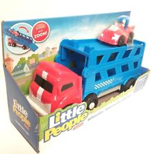 NEW Fisher-Price Little People Wheelies Sports Car Carrier Truck & Race Car