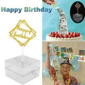 Cake ATM Happy Birthday - Money Cake Dispenser Box, Cake Money Pull Out Set Kit