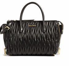 Miu Miu Matelasse Black Leather Handbag Tote RN1015 N88 F0002 - NWT
