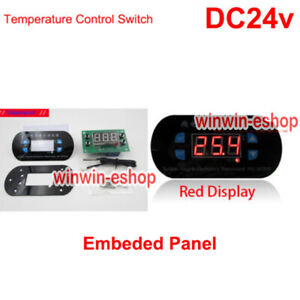DC 24V Red Digital LED Thermostat Temperature Control Switch Sensor Meter Panel