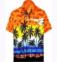 Men's Hawaiian Shirt Allover Coconut Tree Print Beach Aloha Party Summer Blouses